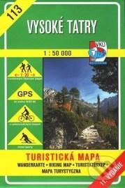 Vysoké Tatry - turistická mapa č. 113