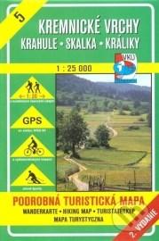 Kremnické vrchy - Skalka - turistická mapa č. 5