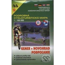 Gemer, Novohrad, Podpoľanie - cykloturistická mapa č. 9