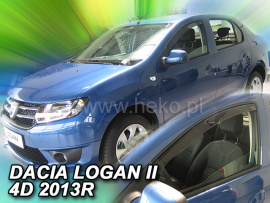 Heko  Deflektory na Dacia Logan II, 4-dverová, r.v.: 2013 -