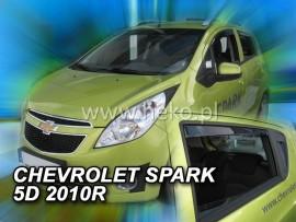 Heko  Deflektory na Chevrolet Spark M300 hatchback, 5-dverová (+zadné), r.v.: 2010 -