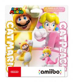Nintendo Amiibo Smash Cat Mario and Cat Peach
