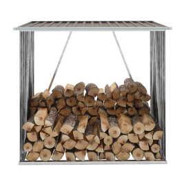 Shumee Záhradná kôlňa na drevo z galvanizovanej ocele 163x83x154cm