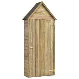 Shumee Záhradný prístrešok na náradie s dverami 77x37x178cm