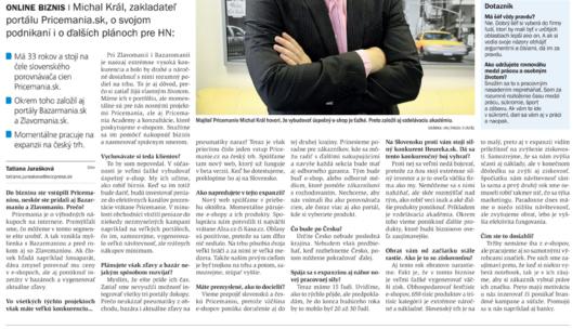 Hospodárske noviny Pricemania